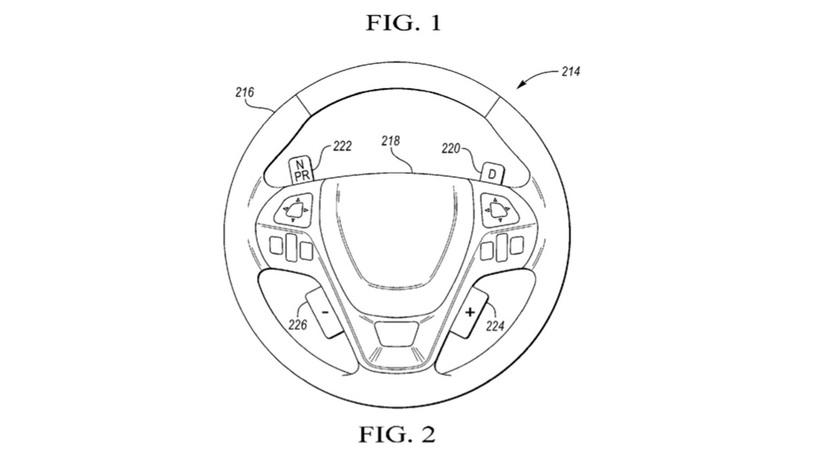 Ford запатентовал управление передачами при помощи рулевого колеса