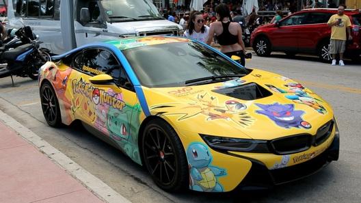 BMW i8 превратили в автомобиль охотника за покемонами
