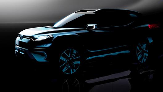 Производителе автомобилей Сан Йонг продемонстрировал тизеры нового джипа XAVL