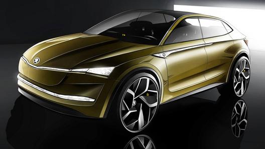 Skoda рассекречивает новое электрическое кросс-купе