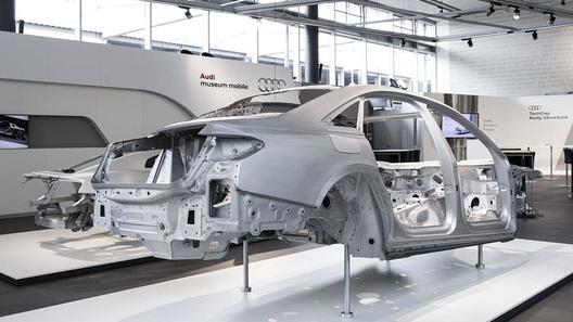 Кузов свежей Ауди A8 создадут изчетырех материалов