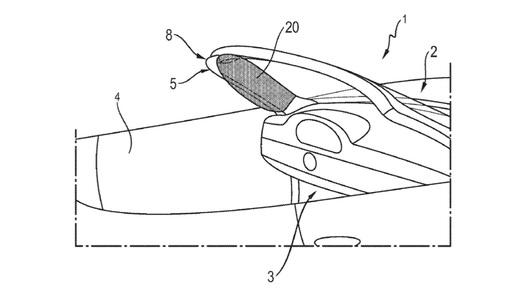 Компания Порше запатентовала обновленный тип подушек безопасности