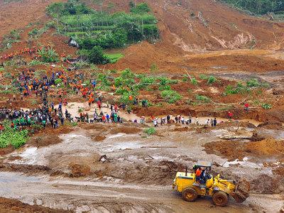 Оползень в Мьянме унес жизни 90 человек