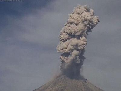 Самый активный вулкан Мексики не собирается затихать