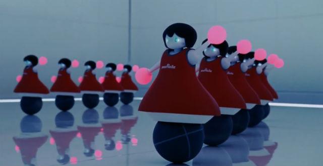 Болельщицы выполняют свои движения синхронно (иллюстрация Murata Manufacturing).