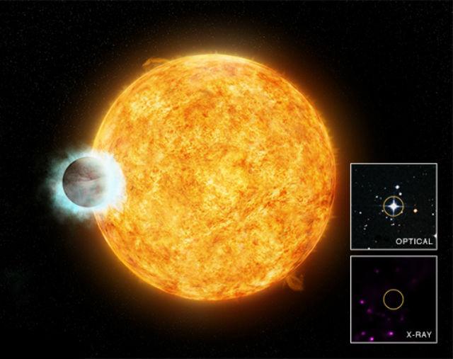 Никакого рентгеновского излучения от звезды не исходило, а должно было (иллюстрация NASA).