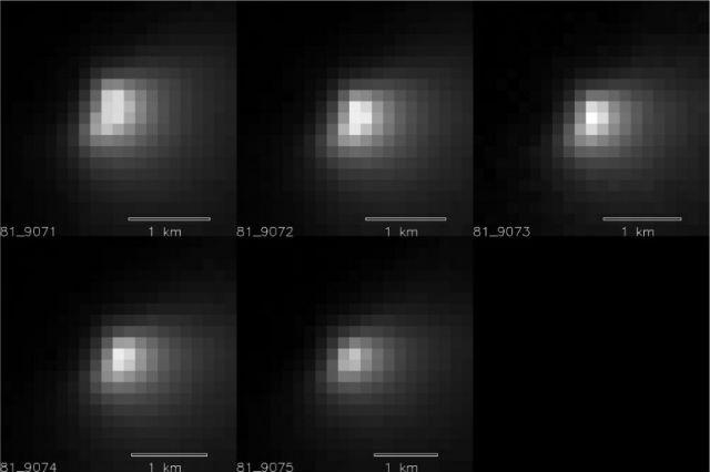 Снимки ядра кометы (фото NASA).
