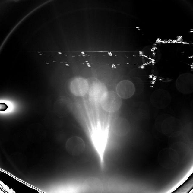 """Аппарат """"Филы"""" успел передать снимки первичной посадки (фото ESA/Rosetta/Philae/CIVA)."""