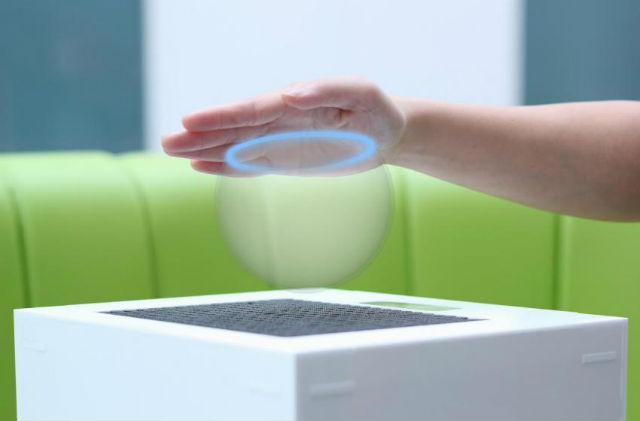 Звуковые волны создают эффект присутствия призрачного объекта (иллюстрация University of Bristol).