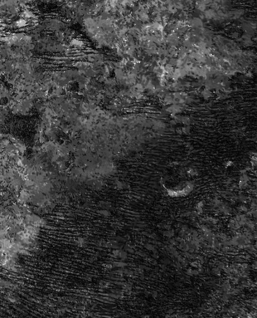 "Радиолокационное изображение дюн, сделанное аппаратом ""Кассини"" (фото Cornell/Laboratoire AIM Paris-Diderot)."