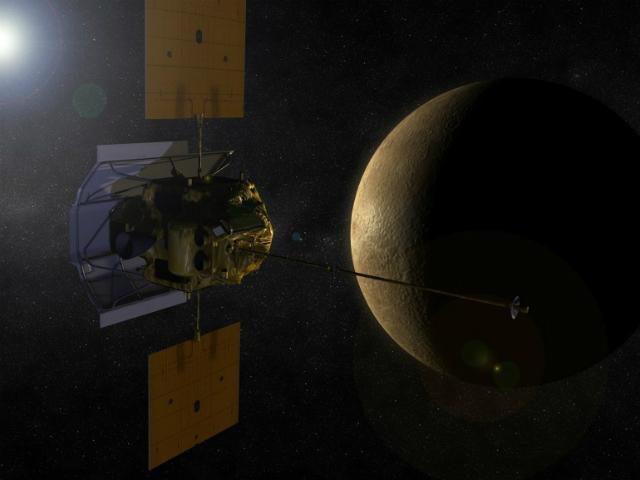 Аппарат MESSENGER зафиксировал повышение кальцияв экзосфере Меркурия (иллюстрация NASA).