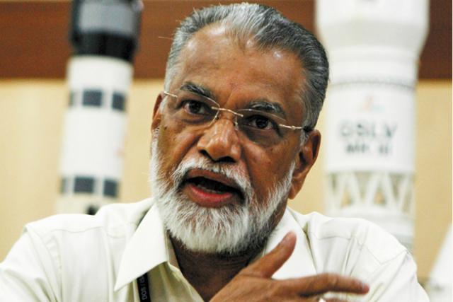 Коппиллил Радхакришнан, глава Индийской организации космических исследований (фото Arun Sankar K/AP/Press Association Images).