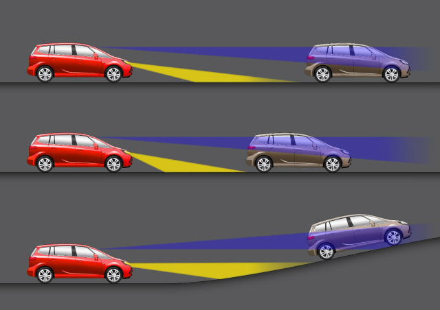 Фары автоматически будут адаптироваться к различным дорожным ситуациям (иллюстрация GM).