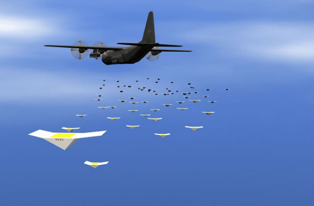 По словам инженеров, дроны могут падать с десятикилометровой высоты, врезаться в гравий, асфальт и песок и оставаться полностью работоспособными (иллюстрация Naval Research Laboratory).
