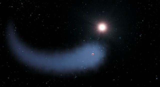 """Облако """"Бегемот"""" в представлении художника (иллюстрация NASA, ESA, G. Bacon/STScI)."""