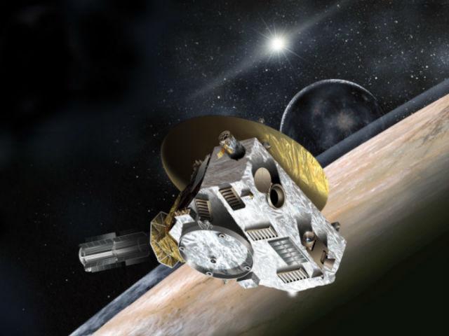 """Станция """"Новые горизонты"""" на орбите Плутона в представлении художника (иллюстрация NASA/Applied Physics Laboratory)."""