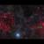 Образ неба в созвездии Возничего. Зелёным кружком отмечен всплеск между остатками сверхновой S147 и регионом звездообразования IC 410