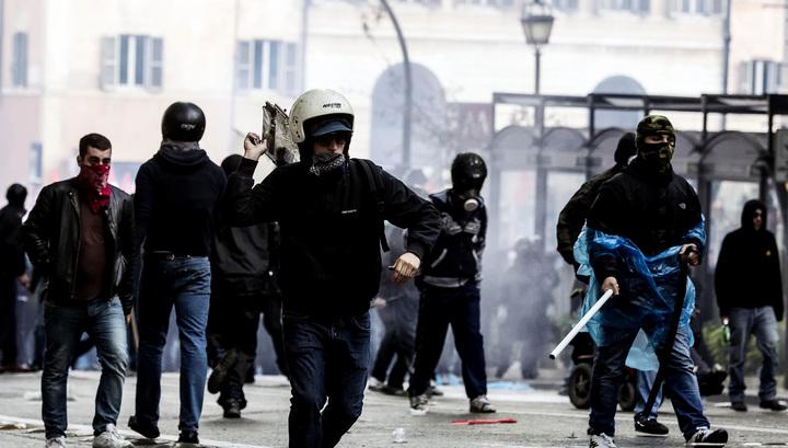 В Риме проходят анти-иммигрантские митинги