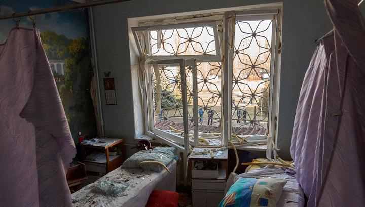 В Донецке обстреляны больница и жилые кварталы