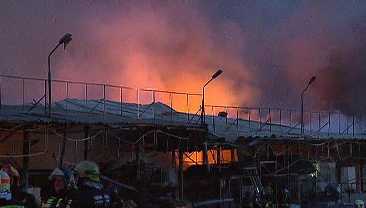 """Пожар на рынке """"Каширский"""