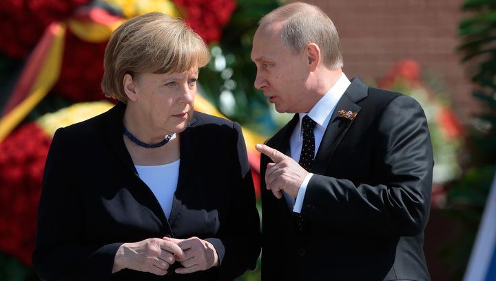 Странный визит Меркель в Россию.