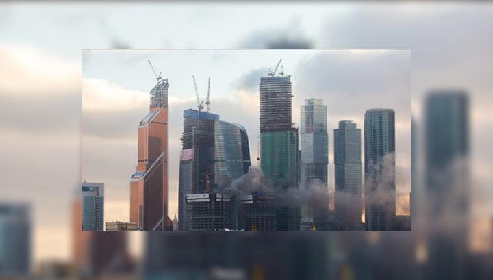 """на башне """"Москва-Сити"""""""