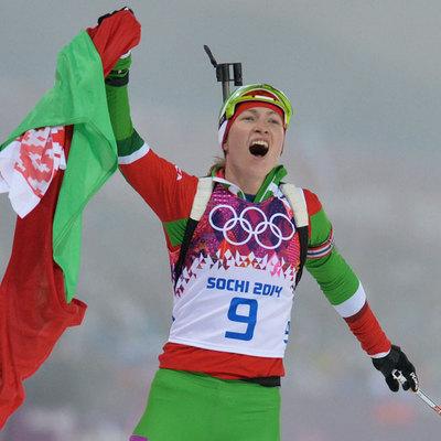 Белорусская биатлонистка Дарья Домрачева пропустит предстоящий сезон