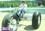 Велобезумие: на двух колесах - по воде, по воздуху и на хаски