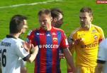 Акинфеев получил желтую карточку за удар в лицо