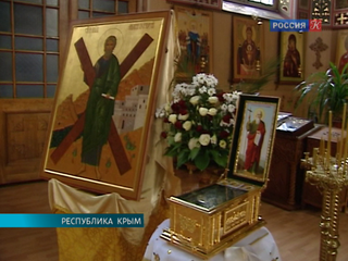 Десница  Андрея Первозванного возвращается из Симферополя в Москву