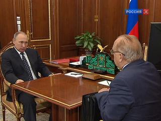Владимир Путин встретился с ректором МГУ Виктором Садовничим