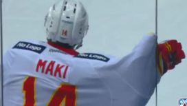 Спортивные курьезы: хоккеист застрял в защитном стекле