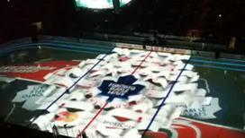 Фантастическое световое шоу перед матчами НХЛ