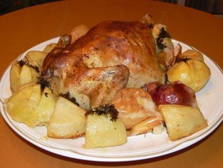 Курица румяная в фольге в духовке рецепт