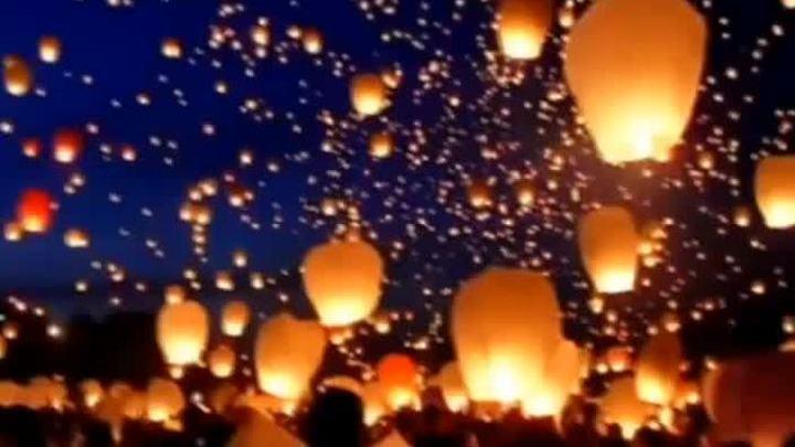 За небесные фонарики в черте
